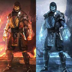 Scorpion and Sub-Zero Raiden Mortal Kombat, Scorpion Mortal Kombat, Sub Zero, Red Dead Redemption, Mortal Kombat X Wallpapers, Arrow Comic, Claude Van Damme, Ninja Art, Angel Warrior