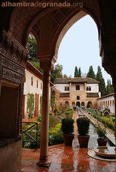 The Alhambra  Granada, Spain -- one of my favorite places in the world!!!! Loved walking around this place!