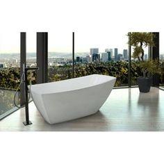 Jacuzzi JSTF6731BUXXXXW Stella Unique Size Soaking Tub - White