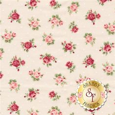 "Rose Collection RU2220-17A by Quilt Gate Fabrics: Rose Collection is by Quilt Gate Fabrics. This fabric features roses tossed on a cream background with dots. Width: 43""/44""Material: 100% CottonSwatch Size: 6"" x 6"" Expected Arrival Date Of 2015"