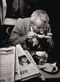 Franz Hubmann In Café Hawelka, Vienna, 1956/57 Vintage gelatin silver print