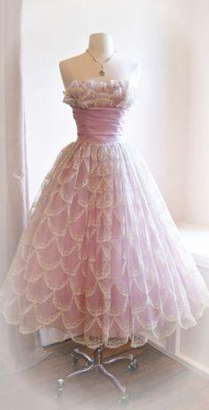 Vintage 50s prom dress ~ Debbie Orcutt ❤