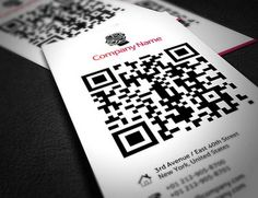 Modern Company Business Card with QR-Code  gefunden auf www.graphicdesignjunction.com gepinned von der Hamburger Werbeagentur BlickeDeeler >>> www.BlickeDeeler.de