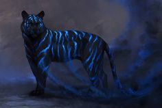 Smoke by JadeMere Featured on Cyrail: Inspiring artworks that make your day better Fantasy Beasts, Fantasy Art, Magical Creatures, Beautiful Creatures, Anime Animals, Cute Animals, Big Cats Art, Tiger Art, Photo Chat