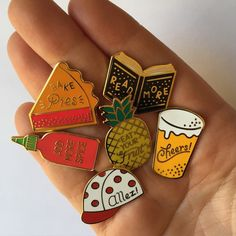 A little collection of pins, titled Life lessons learned from things I like. Gold plated hard enamel pin with strong rubber clasp! Rose Moustache, Jacket Pins, Hard Enamel Pin, Pin Enamel, Cool Pins, Pin And Patches, Up Girl, Pin Badges, Pullover
