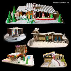 2016 Mid Century Modern Gingerbread House Competition Winners