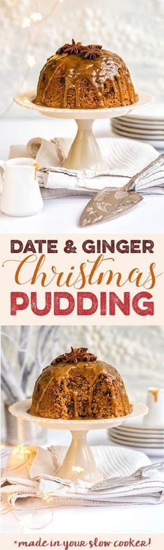 This delicious steamed pudding is so easy to throw together and full of seasonal spices. A perfect alternative to traditional Christmas pudding and cooked in a slow cooker.