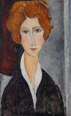 Amedeo Modigliani.  Portrait de femme