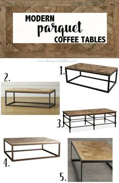 Parquet Wood & Metal Coffee Tables | Shine Your Light | www.shineyourlightblog.com