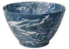 Apartment 48 - Shop - Entertaining - Blue Marble Bowl - Home Furnishings and Interior Design - New York City