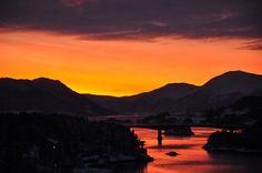winter sunset in Norway by Martin Ystenes