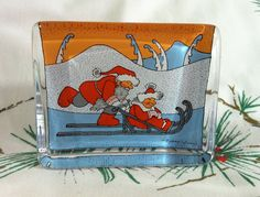 Iittala Glass Holiday Christmas Card Paperweight by Nostalgicats, $40.00