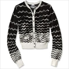 Spring Fashion Trends — Graphic Black & White: M Missoni Cardigan