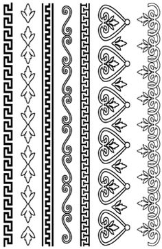Greek Deco Borders Rubber Stamp Set