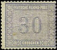 Briefmarke Innendienst Deutsches Reich 1872