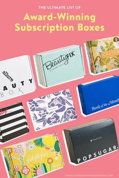 The Best Subscription Boxes of Boxes in 30 Categories Fitness Box Subscription, Best Monthly Subscription Boxes, Kelly Rowland, List Of Awards, Beauty Box Subscriptions, Box Design, All About Time, Blog, Check