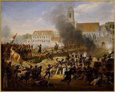 Painting of the Battle of Leipzig