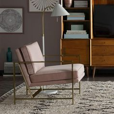 Dream chair - dusky pink and gold