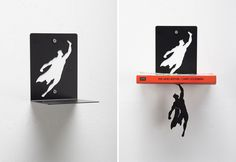 Never let your books down again with these awesome superhero bookends.