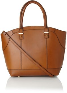 French Connection Brown Leather Bucket Bag