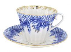 Lomonosov Porcelain Tea Set Cup Radiant Tenderness 7.95 oz/235 ml