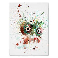 buzzed zombie poster