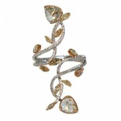 GOLD COLOR DIAMOND BRANCH DESIGN RING