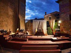 monticchiello tuscany- Theater in the square