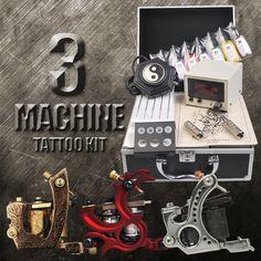 3 Machine Tattoo Kit