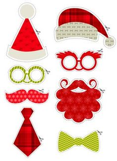 Christmas Photobooth Party set - free to download from Sweet Living magazine issue 7