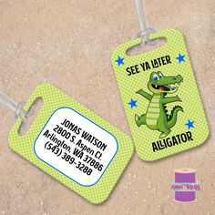 PU Leather Travel Luggage Tags Cartoon Sea Life Animals Luggage Tag Label Bags Case 2 Set
