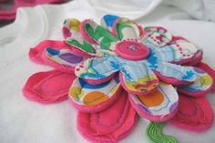 Pretty Quilted Flower T-shirts