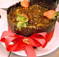 torta brigadeiro com maracuja - especial de natal