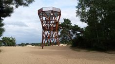 """Uitkijktoren """"de zandloper"""" Kootwijkerzand"""