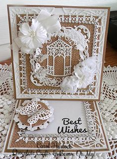 CottageCutz Garden Gazebo Wedding Card