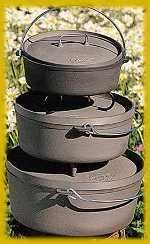 Recipes for using a dutch oven over a camp fire.