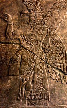 Sumerian depiction of an Annunaki  (Sumerian god) Warrior.