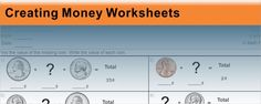 Free elementary math worksheets to print, complete online, and customize. Educational Videos, Educational Technology, Money Worksheets, 4th Grade Math, Numeracy, Elementary Math, Special Needs, Maths, Phoenix