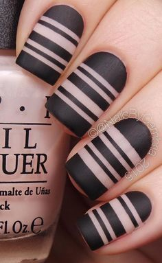 What's the perfect combination for matte black? Of course, nude nail skin color.