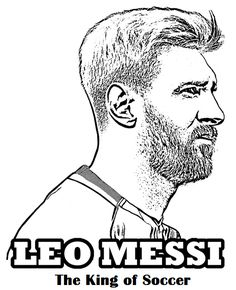 Free coloring page with Lionel Leo Messi - the best football player in the history. He played for FC Barcelona and Argentina national team. Sports Coloring Pages, Coloring Book Pages, Coloring Sheets, Colouring, Best Football Players, Soccer Players, Soccer Fans, Football Soccer, Lionel Messi
