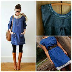 Sew Natural Blog: Jeans Dress Inspiration