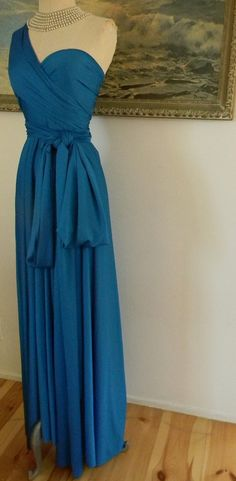 Seven Seas Ocean Blue Octopus Convertible Infinity Wrap Gown. $98.99, via Etsy.