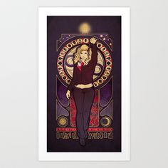 Art Nouveau Bad Wolf, by artist Megan Lara.