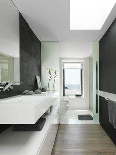 White + Black Bathroom