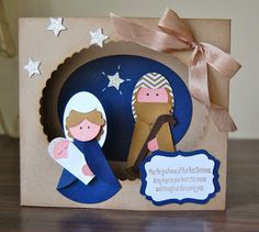 Stampin' Up! Christmas by Julie's Japes: Mary and Joseph Punch Art