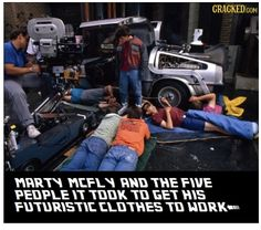Behind the scenes of back to the future!