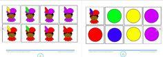 Annelies' blog, kleuterjuf! Matrix zwarte pieten, kenmerk: kleur, te downloaden op mijn site!!