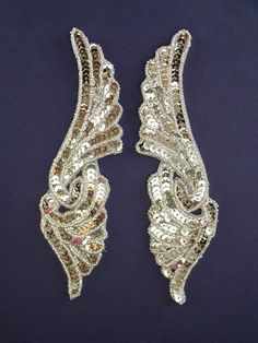 Silver sequin and bead pair. Create Your Own, Create Yourself, Sequin Appliques, Silver Sequin, Sequins, Brooch, Beads, Crafts, Jewelry
