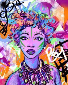 Ooooo she's a favorite 'Sanaa' - work of beauty...Now available on justincopelandart.com. much love and light