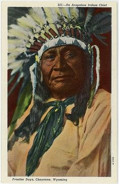 Arapaho Chief, Cheyenne Frontier days, Cheyenn, Wyoming.     Arapaho Indian's Color Photographic Gallery